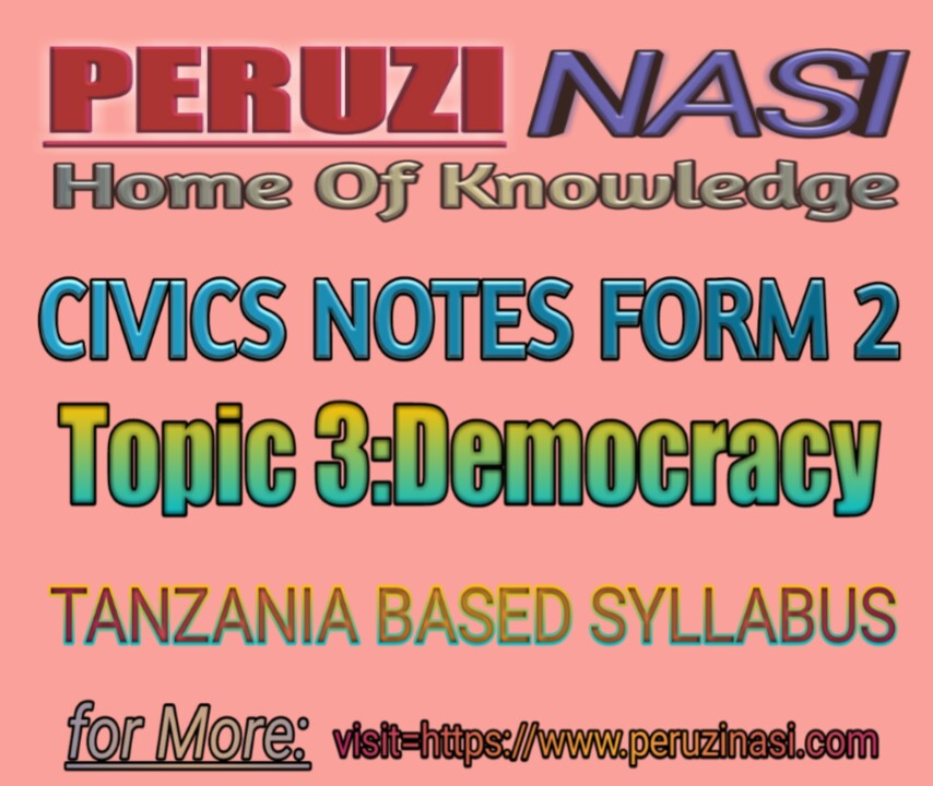 CIVICS FORM 2 TOPIC 3: DEMOCRACY