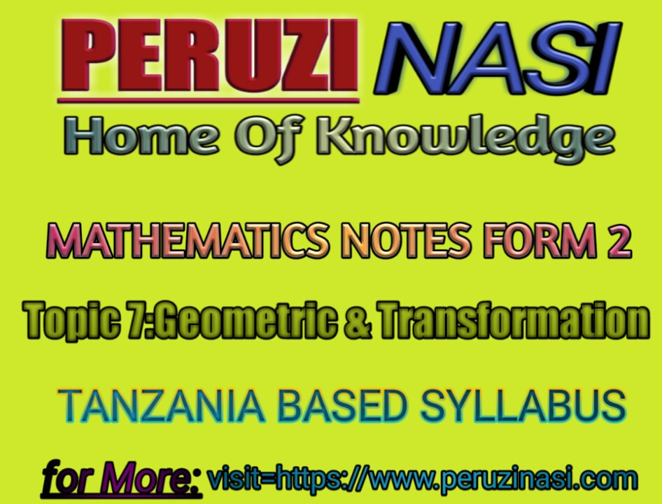 GEOMETRIC AND TRANSFORMATIONS