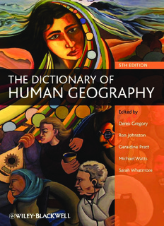 The Dictionary of Human Geography - By Gregory, Derek