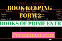 FORM 2 BOOK KEEPING TOPIC 1: BOOKS OF PRIME ENTRY
