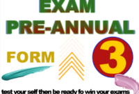 FORM 3 BIOLOGY PRE-ANNUAL EXAM FROM MUDIO ISLAMIC SCHOOL