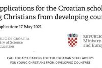 Croatian Government Undergraduate & Graduate Scholarships 2021/2022 for young Christians from developing countries (Fully Funded)