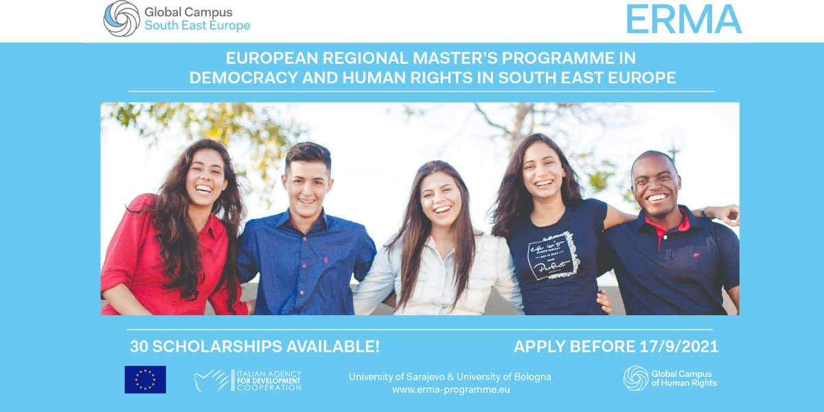 European Regional Master's Programme in Democracy and Human Rights in South East Europe (ERMA)
